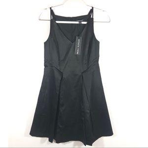 NWT Paris Sunday Black Fit Flare LBD Party Dress